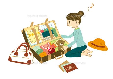 旅行の準備をする女性の素材 [FYI00495930]