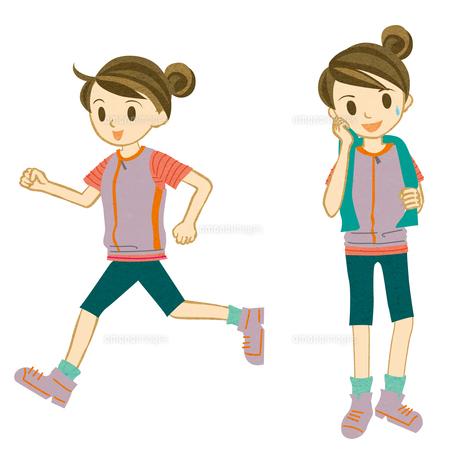 マラソンする女性の素材 [FYI00495961]