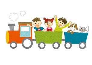 汽車に乗る子ども達 FYI00495966