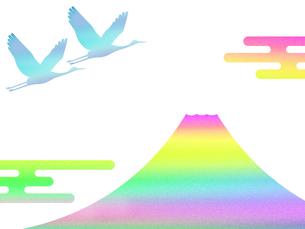 富士山と鶴 FYI00542229