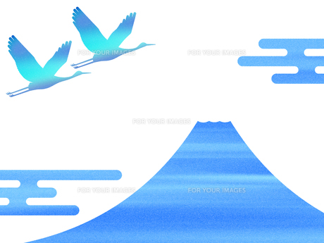 富士山と鶴 FYI00542230