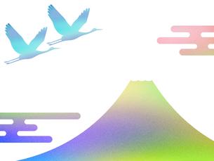富士山と鶴 FYI00542231