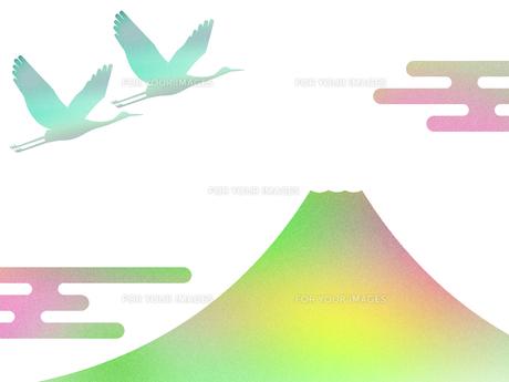 富士山と鶴 FYI00542232