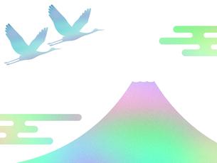富士山と鶴 FYI00542233