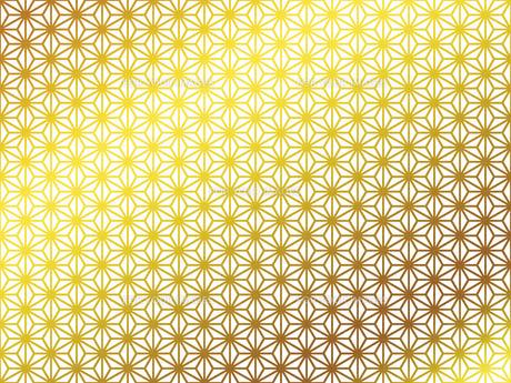 金の和柄 麻の葉(あさのは) FYI00543018