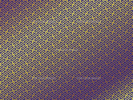 金の和柄 紗綾形(さやがた) FYI00544511