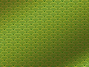 金の和柄 青海波(せいがいは) FYI00544523