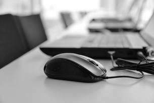 マウスとノートパソコン FYI00551745