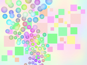 水玉模様と四角模様 FYI00551882