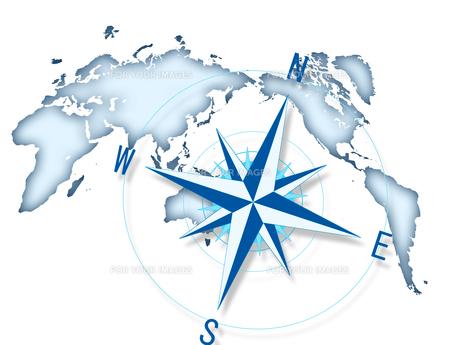 コンパス 世界地図 ビジネス経営 FYI00552407