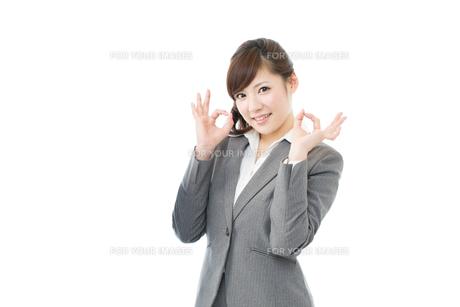 ビジネスウーマン白背景 FYI00558890