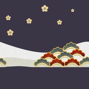 和風背景 桜 松 FYI00564792