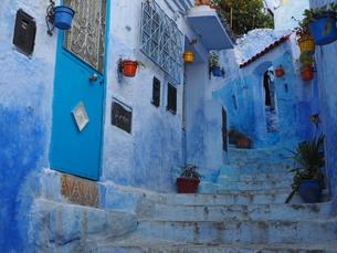 モロッコ シャウエンの町 FYI00571862