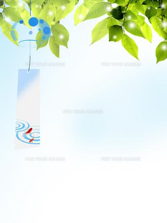 風鈴 夏 新緑 和柄 FYI00589493