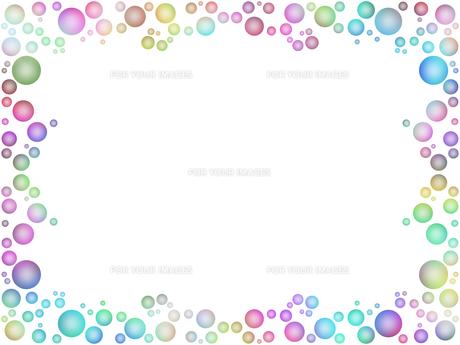 水玉模様のフレーム FYI00593946
