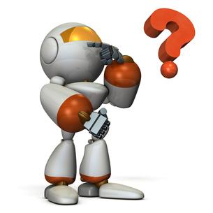 悩み思考するロボット FYI00604736