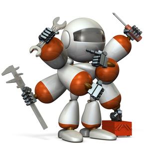 工具を持つロボット FYI00604743
