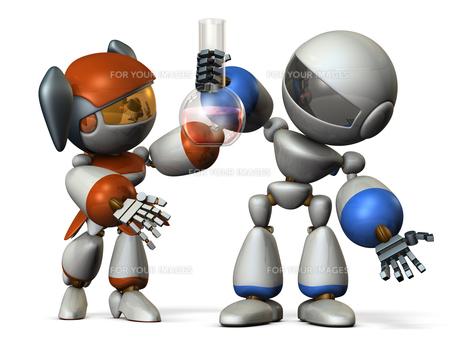 新しい発見をする二人のロボット FYI00604755