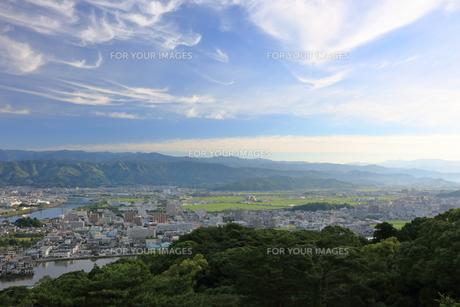 五台山展望台からの眺望 明け方 FYI00619817