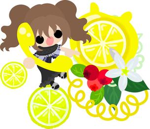 レモンと可愛い女の子のイラスト FYI00625919