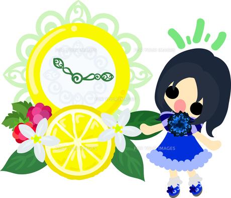 レモンと可愛い女の子のイラスト Fyi00626389 気軽に使える写真