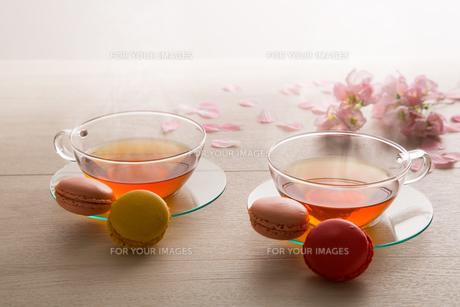 紅茶とマカロン FYI00632807