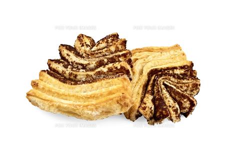 Puff cookies of yellow-brown FYI00634449