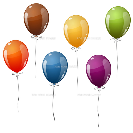colored balloons flying FYI00643723