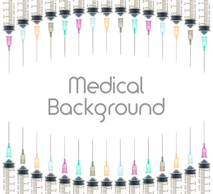 Five Color Medical Background on Curve Line Top and Bottom FYI00651611