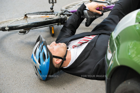 Male Cyclist After Road Accident FYI00654124