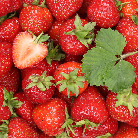 strawberries red berries fruits background FYI00663661