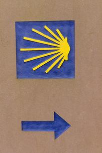symbol of the camino de santiago FYI00680275