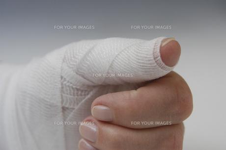 hand injuryの素材 [FYI00702077]