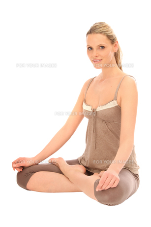 woman doing relaxation exercises FYI00707487