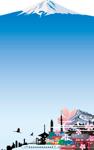 日本風景の背景のイラスト素材 [FYI00737605]