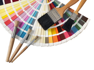 color palette and paintvrushesの素材 [FYI00750364]