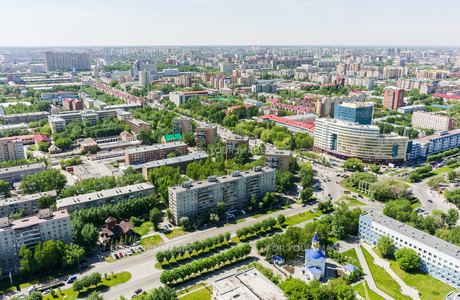 Aerial view on city hospital. Tyumen. Russia FYI00753293