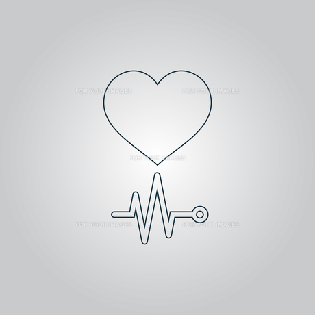 Heart with its cardiogram FYI00761202