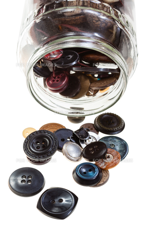 glass jar with buttons isolated FYI00776373