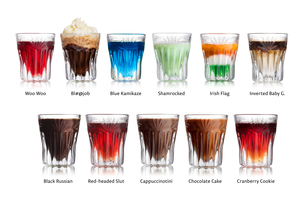 Shot cocktails isolated set FYI00792137