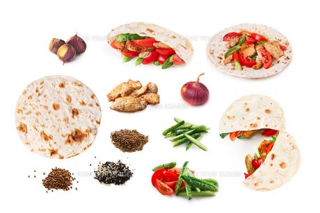 Shawarma set isolated FYI00792242