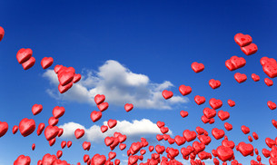 flying red hearts in spring FYI00830508