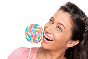 woman with a lollipop FYI00855347