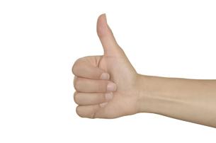 thumbs up,female hand FYI00857269