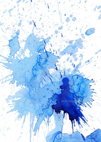 blue blob and spatter on white FYI00872772