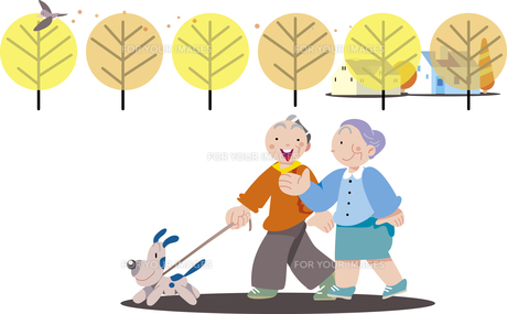 老夫婦の散歩 FYI00885437