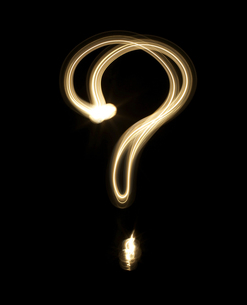 Question Mark Drawn with Light FYI00905406