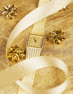 Ribbon Over Golden Watch FYI00906278