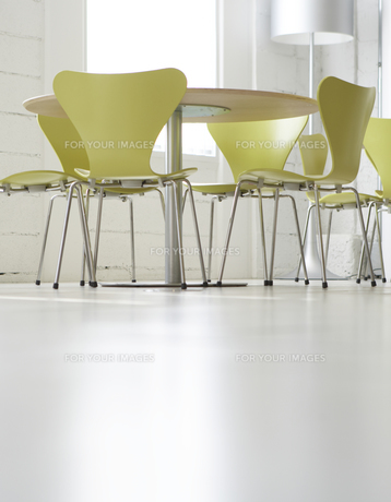 Low Angle View of Tables and Chairs FYI00907100