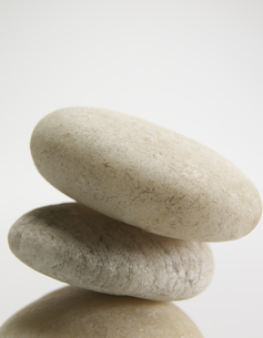 Close-Up of Three Stones on Top of Each Other FYI00907166